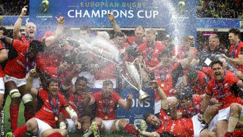 Saracens celebrate retaining the Champions Cup