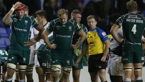 London Irish dejected after their home defeat by Wasps