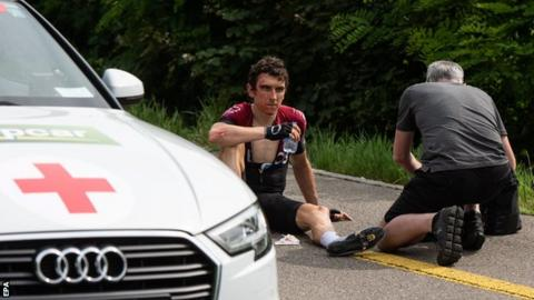 Thomas 'all OK' after crash, set for Tour de France