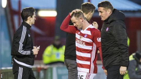 Hamilton's David Templeton sent off against Dundee