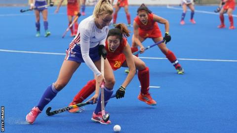 GB's Hannah Martin in action during the win against China