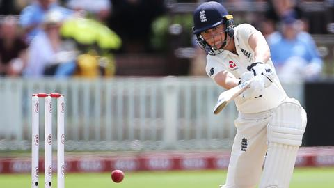 Amy Jones in action for England