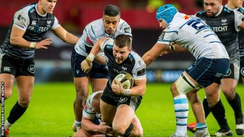 Scott Williams is in is his second season at Ospreys after joining from Scarlets