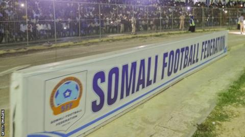 A sign for the Somali Football Federation