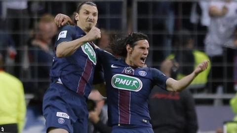Zlatan Ibrahimovic and Edinson Cavani