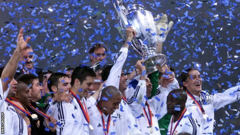 Real Madrid won the Champions League final at Hampden in 2002