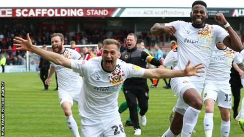 Mickey Demetriou helped Newport reach the League Two play-off final last season