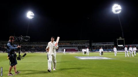 Alastair Cook leaves the field unbeaten on 153
