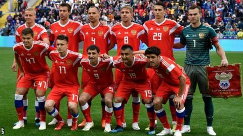 Russian Federation  crush sorry Saudi Arabia 5-0 in World Cup opener