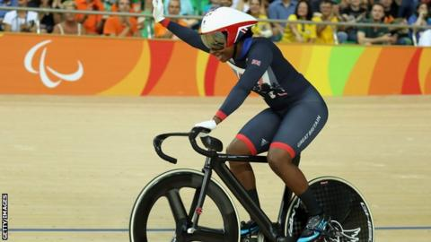 Kadeena Cox at the Rio Paralympics