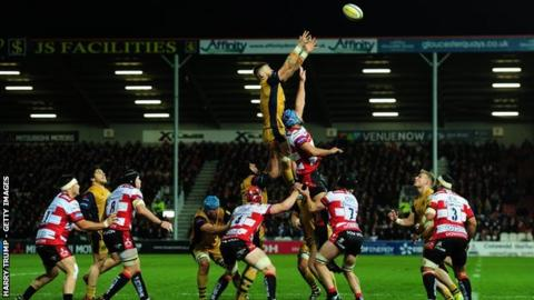 Bristol led 6-0 at half-time on their first trip to Kingsholm in eight years