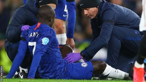 N'Golo Kante was replaced by Mason Mount early in the game against Manchester United last Monday