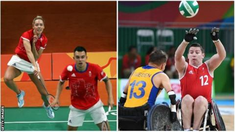 Badminton and wheelchair rugby