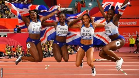 GB relay team