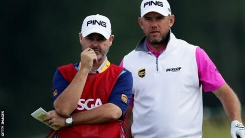 Lee Westwood (right) and caddie Billy Foster