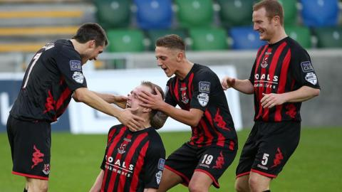 A big win in November with Jordan Owens netting the only goal in a Windsor Park clash against Linfield