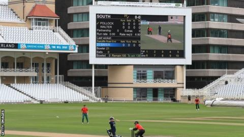 100-ball cricket was trialled behind closed doors at Trent Bridge in September