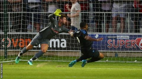 Britt Assombalonga scores against Salford City