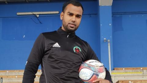 Foyal Ali, footballer for Sporting Bengal