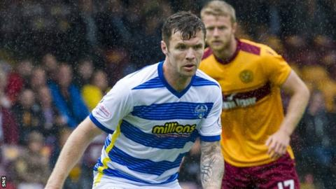 Darren Barr in action for Greenock Morton
