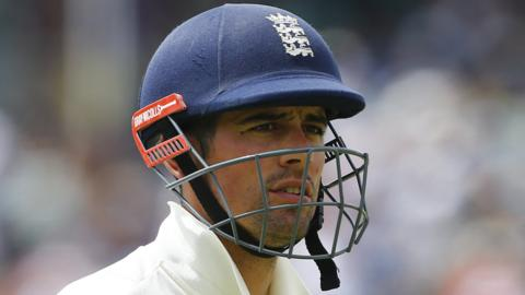 Alastair Cook after being dismissed