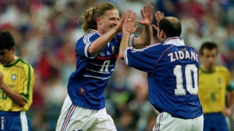 Emmanuel Petit and Zinedine Zidane