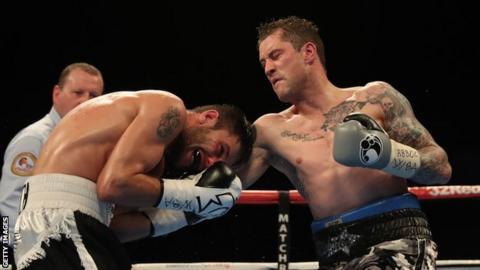 Ricky Burns in action against Kiryl Relikh