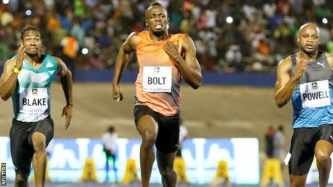 Usain Bolt wins in Kingston