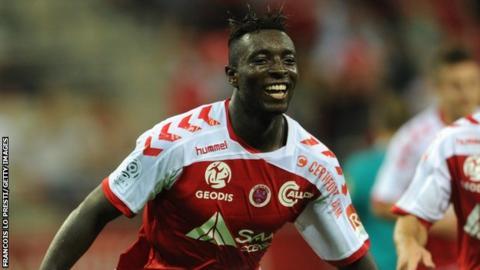 Reims' forward Grejohn Kyei