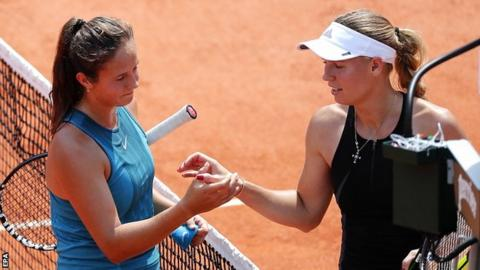 Daria Kasatkina and Caroline Wozniacki