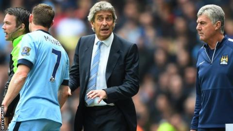 James Milner and Manuel Pellegrini