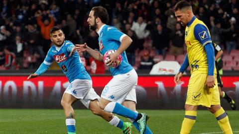 Napoli are chasing their first Serie A title since 1990