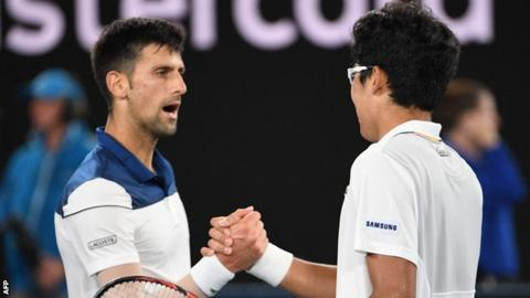 Hyeon Chung defies odds, defeats Novak Djokovic