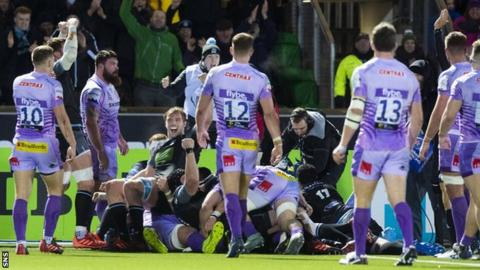 Exeter into last eight after procedure with Glasgow thumbnail