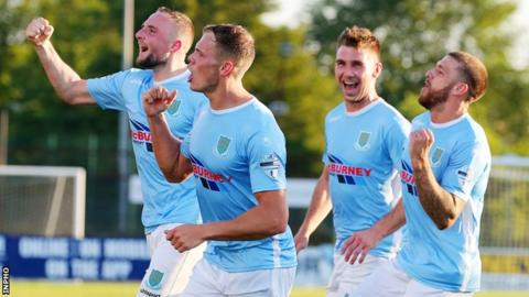 Ballymena's 2-0 first-leg win at the Showgrounds secured their passage