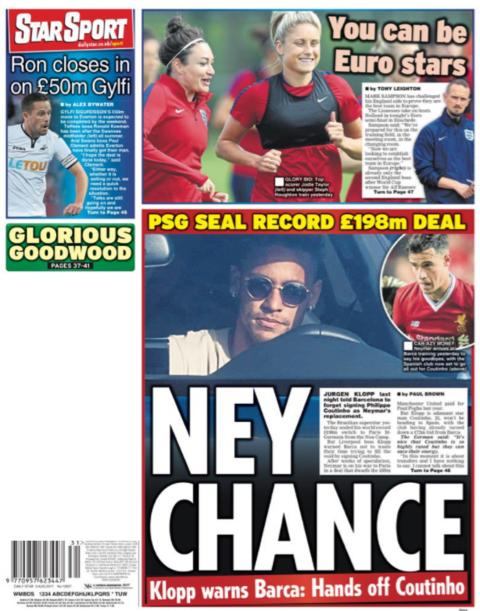 Daliy Star backpage on Thursday
