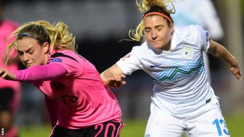 Scotland's Kirsty Smith and Slovenia's Lara Ivanusa