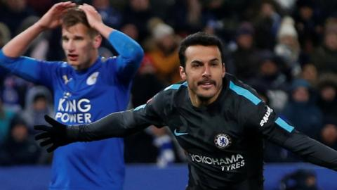 Pedro puts Chelsea into the FA Cup semi-finals