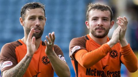 Dundee United's Scott McDonald and Paul McMullan