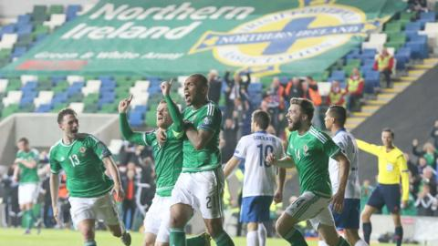 Northern Ireland's first-ever appearance at the European finals was secured by a 1-0 home win over Greece