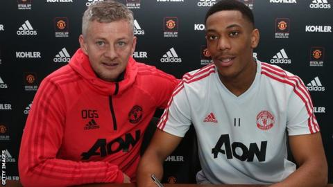 Ole Gunnar Solskjaer: Anthony Martial can follow in Cristiano Ronaldo's footsteps