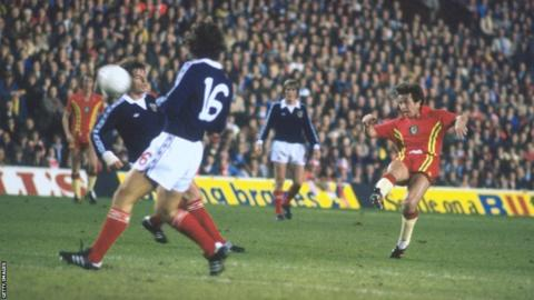 The Football Association of Wales switched the World Cup qualifier against Scotland to Liverpool's Anfield. Scotland won 2-0 on a controversial night.