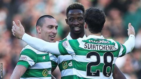 Scott Brown, Moussa Dembele and Erik Sviatchenko