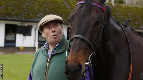 Trainer Nicky Henderson with Sprinter Sacre