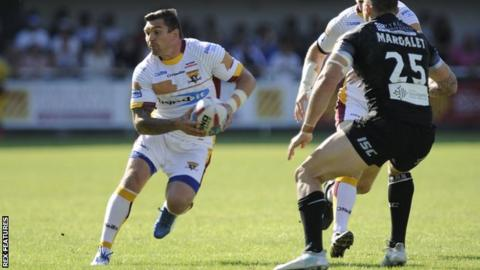Danny Brough in action for Huddersfield