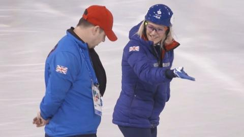 Elise Christie returns to the ice