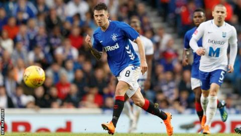 Rangers' Ryan Jack in action against Osijek