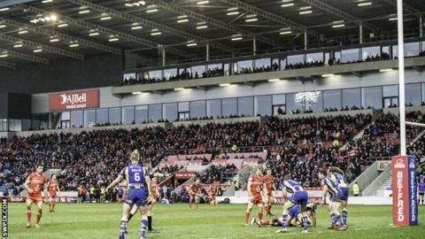 Salford Red Devils share the AJ Bell Stadium with Sale Sharks