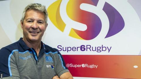 Scottish Rugby head of academies Sean Lineen helped launch Super6 in May