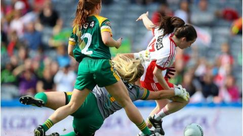 Grainne Rafferty's goal put Tyrone 3-1 to 0-1 up inside the opening quarter of an hour